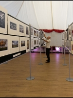 Mike Rannard (Parkwood CC) putting the finishing touch to the exhibtion room