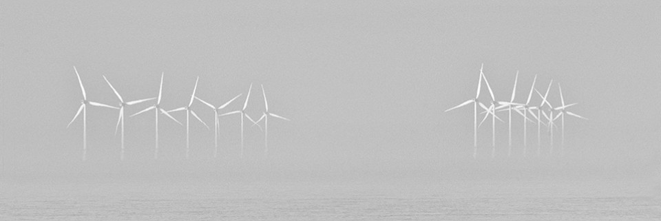 Wind Farm by David Berger  Entry in Print Mono 2015 Exhibition