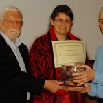 Sue Chapman Chairman ASP receiving the Award for the highest score in the Diamond Jubilee Comp 2013