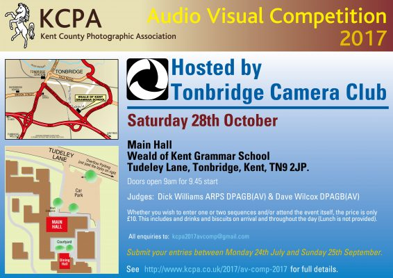 Audio Visual Competition Hosted by Tonbridge CC @ Weald of Kent Grammar School | Tonbridge | England | United Kingdom