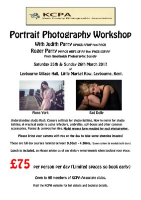 Roger Parry Portraiture Workshop @ Leybourne Village Hall. | Leybourne | England | United Kingdom