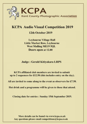 KCPA Audio Visual Competition 2019 @ Leybourne Village Hall